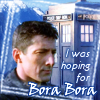 "kerravonsen: Methos, TARDIS, snow-capped mountains: ""I was hoping for Bora Bora"" (tardis-methos, Methos-TARDIS)"