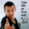 "kerravonsen: Ninth Doctor holding out his hand: ""Come with me if you want to Live"" (come-with-me, Doc9-come-with-me)"