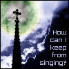 """kerravonsen: Church steeple silhuetted against clouds: """"How can I keep from singing?"""" (singing)"""