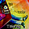 """kerravonsen: Eighth Doctor's legs sticking out from underneath TARDIS console: """"tea, tools, Tinkering"""" (tinkering)"""