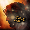 "kerravonsen: from ""The Passion"", Christ's head with crown of thorns: ""Love"" (Love)"