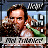"kerravonsen: Kirk buried in Tribbles: ""Help! I'm buried in Plot Tribbles!"" (Plot Tribbles)"