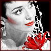 kerravonsen: Servalan and red flower (Servalan)