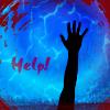 """kerravonsen: hand stretching up: """"Help!"""" (Help!)"""