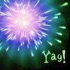"kerravonsen: fireworks: ""Yay!"" (Yay!)"