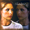 "kerravonsen: Buffy facing a mirror image of herself: ""Shadow Self"" (shadow-self, Buffy)"