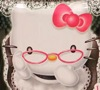 firecat: hello kitty wearing pink granny glasses (hello kitty with glasses)