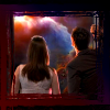 kerravonsen: Donna and the Tenth Doctor looking out the TARDIS doors onto a nebula (Donna-Doctor)