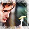 kerravonsen: Tenth Doctor contemplating a chip. (Doc10-chip, Doc10)