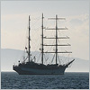 "jaaaarne: Photo of a sailing ship ""Nadezhda"" in the roads of Vladivostok. (home)"