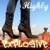 "kerravonsen: Miss Parker, only her boots are visible: ""Highly explosive"" (Miss Parker, explosive)"