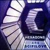 "kerravonsen: Hexagonal corridors of the Liberator: ""Hexagons are scifi love"" (SF-hexagons)"