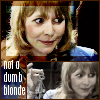 "kerravonsen: Jo Grant smiling and holding up set of keys: ""not a dumb blonde"" (Jo Grant)"