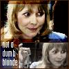 "kerravonsen: Jo Grant smiling and holding up set of keys: ""not a dumb blonde"" (not-a-dumb-blonde, Jo Grant)"