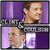 jlh: Clint Barton (Hawkeye) and Phil Coulson from the Avengers (avengers: Clint and Coulson)