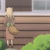 mariseth: the Fox Child from Natsume Yuujinchou peers through a window. (foxbaby // looking in)