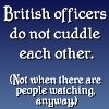 "kindkit: Text icon: ""British officers do not cuddle each other. (Not when there are people watching, anyway."") ('Allo 'Allo: British officers do not cud)"