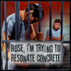 likeaduck: Spock tries to loosen the bars of a cell where he and McCoy are imprisoned. Text: Rose, I'm trying to resonate concrete (dammit jim i'm a vulcan not the doctor)