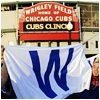 finefoxyladies: THIS IS FOR WIN OMG (Cubs W Flag)