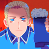 feuervogel: (hetalia germany with beer)