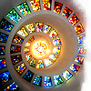 inspired_ideas: Glory Window, Thanksgiving Chapel, Dallas TX (Multicolor Spiral)