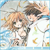 yati: Sakura and Syaoran under an umbrella Sakura's holding, both of them smiling (some things are meant to be)
