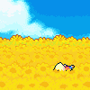 nonakani: He looks dead tired.  Haha, get it? (M3 - Facedown in Sunflower Fields)