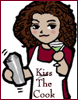 jlh: Chibi of me in an apron with a cocktail glass and shaker. (veritas in varitek)