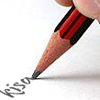 kisahawklin: Sharpened pencil writing 'kisa' (writing)