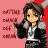 socialdisaster: chibi artwork of Squall with battle commands (select a command)
