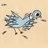 silveradept: Mo Willems's Pigeon, a blue bird with a large eye, flaps in anticipation (Pigeon Excited)