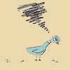 silveradept: Mo Willems's Pigeon, a blue bird with a large eye, has his wings folded on his body and a very unhappy expression. (Pigeon Pissed Off)