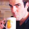 gabriel_gray: (Cheeky coffee blowing)