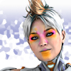 nothingtoregret: Spiky-haired AI woman with a painted face. (Default)