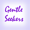 gentle_seekers: The title in purple on a sky blue background (Default)