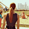 scaramouche: Linda Hamilton as Sarah Connor, looking at a park (sarah connor can only look)