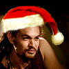 zvi: Ronon in a Santa hat (Christmas)