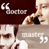 "doctor_and_master: Simm!Doctor and Ten on cell phones with captions ""Doctor"" and ""Master"" (dw20r21cat3)"