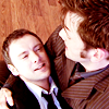 doctor_and_master: Simm!Master smiling as he dies in Ten's arms (dw20r21dramatic)