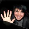 lferion: Photo of Adam Lambert grinning and waving (AI8_Adam_o-hai-there)
