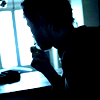 jsem: stock photo:  young man in silhouette (in the dark corners)