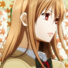 chagrined: Chihayafuru: Chihaya against leaves backdrop from opening (chihaya)