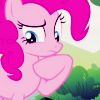 insidethechimney: pinkie pie is in thought (is stealing ten cakes really so bad)