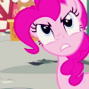 insidethechimney: pinkie pie is looking angry (but why is the cake gone)
