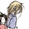 keltena: chibi Tir hugging Gremio happily ([suikoden] > pull his ears)