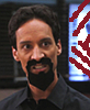 sinensis: Abed in his evil goatee, baring his teeth. (evil!abed)