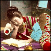 inarticulate: a geisha reading in bed (all my favorites have happy endings)