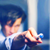 scripted_sra: Blurry Eleven brandishing his (old) sonic screwdriver. (doctor who: eleven blur)