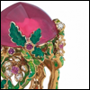 skywardprodigal: ring with pink stone and green laquer work (bling-diorelle)