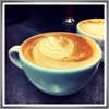 thedivinegoat: A photo of a cappuccino with a feather pattern in the foam. (My Photo - Coffee)